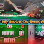 5 Tindakan Yang Dilakukan Saat Bermain Poker Online